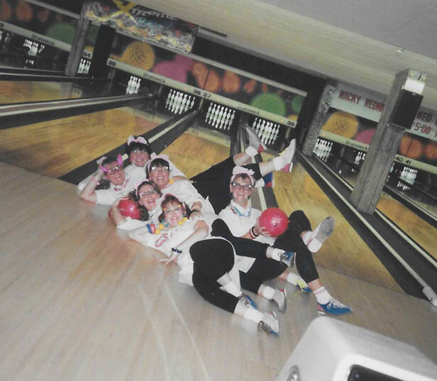 Two Crazy Ladies bowling for charity tournament