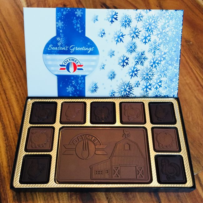 Christmas chocolates for Olymel