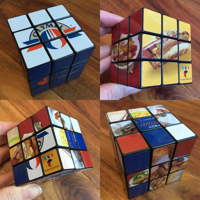 rubik's cube with olymel products
