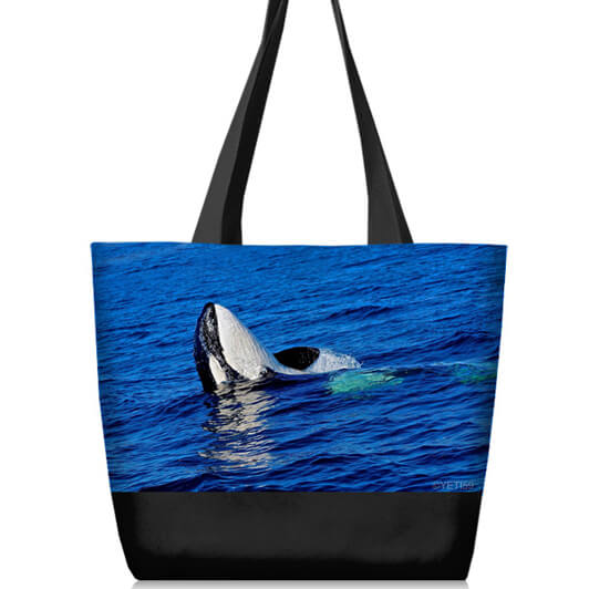 whale on tote bag